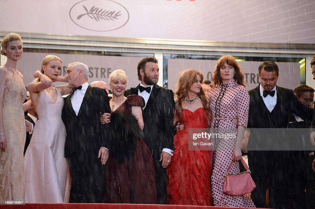 Elizabeth Debicki, Carey Mulligan, Baz Luhrmann, Catherine Martin, Joel Edgerton, Isla Fisher, Florence Welch, and Leonardo DiCaprio attend Electrolux at Opening Night of The 66th Annual Cannes Film Festival at the Theatre Lumiere on May 15, 2013 in Cannes, France.