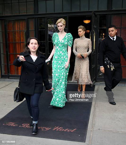 Elizabeth Debicki is seen departing the Bowery Hotel on May 2 2016 in New York City