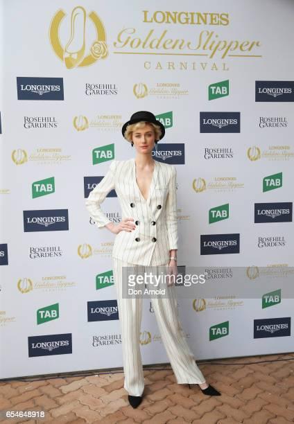 Elizabeth Debicki poses during the 2017 Golden Slipper Day at Rosehill Gardens on March 18 2017 in Sydney Australia