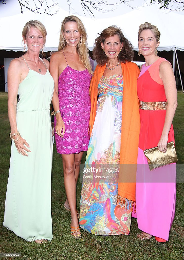 Elizabeth Dennis, Stephanie Hessler, Nancy Hebert and Erin O'Callaghan attend the Southampton Hospital's 56th Annual 'Endless Summmer' party on August 2, 2014 in Southampton, New York.
