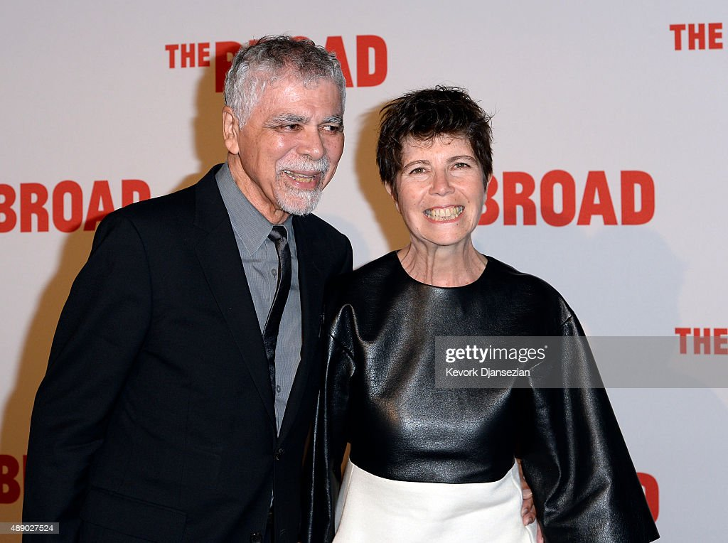 Elizabeth Diller (R) and husband Ricardo Scofidio attend The Broad museum's inaugural celebration September 18, 2015, in Los Angeles, California.