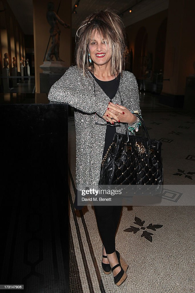Elizabeth Emanuel attends the Club To Catwalk: London Fashion In The 1980's exhibition at Victoria & Albert Museum on July 8, 2013 in London, England.