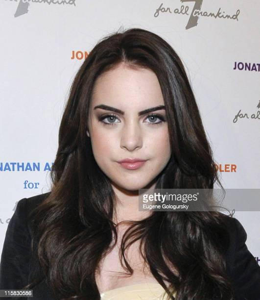 Elizabeth Gillies attends the Jonathan Adler for 7 For All Mankind launch party at 7 For All Mankind on May 12 2010 in New York City