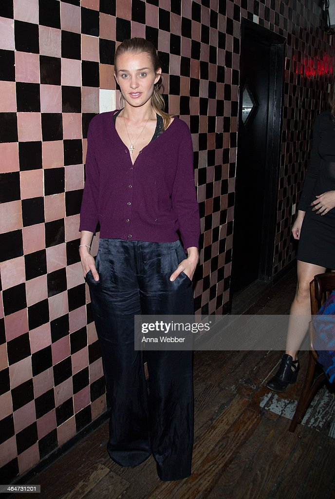 Elizabeth Gilpin attends Ashley Smith + RVCA - Collaboration Launch Dinner Hosted By RVCA Founder PM Tenore And Model Ashley Smith at Acme on January 23, 2014 in New York City.