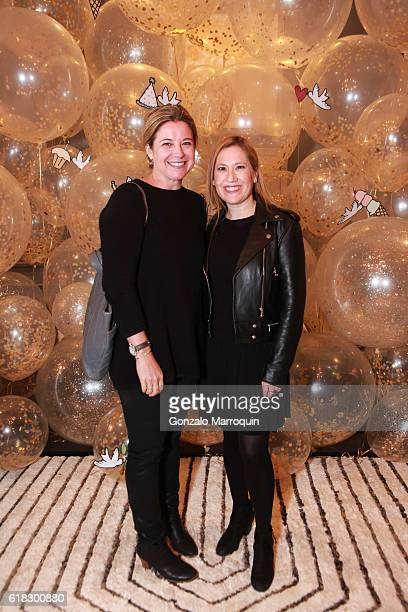 Elizabeth Graves Marci Greenfield at the Darcy Miller's 'Celebrate Everything' Launch at Jonathan Adler Showroom at Jonathan Adler Showroom on...