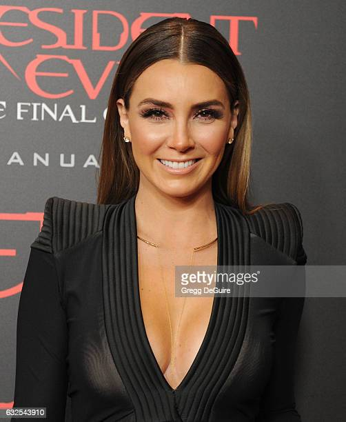 Elizabeth Gutierrez arrives at the premiere of Sony Pictures Releasing's 'Resident Evil The Final Chapter' at Regal LA Live A Barco Innovation Center...