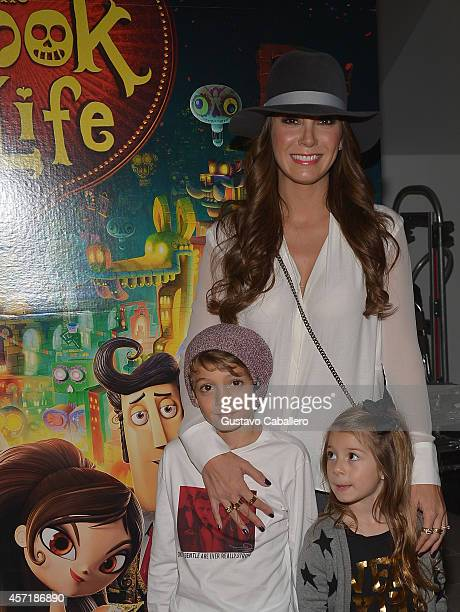 Elizabeth Gutierrez attends 'THE BOOK OF LIFE' Red Carpet at Regal South Beach 18 on October 13 2014 in Miami Florida