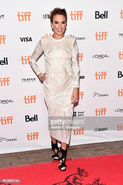 Elizabeth Hammer attends the 'Free Fire' premiere during the 2016 Toronto International Film Festival at Ryerson Theatre on September 8 2016 in...