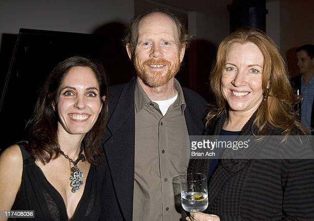 Elizabeth Harrison Ron Howard and Cheryl Howard during Rory and Elie Tahari Host a Party Honoring the Launch of Lara Shriftman and Elizabeth...