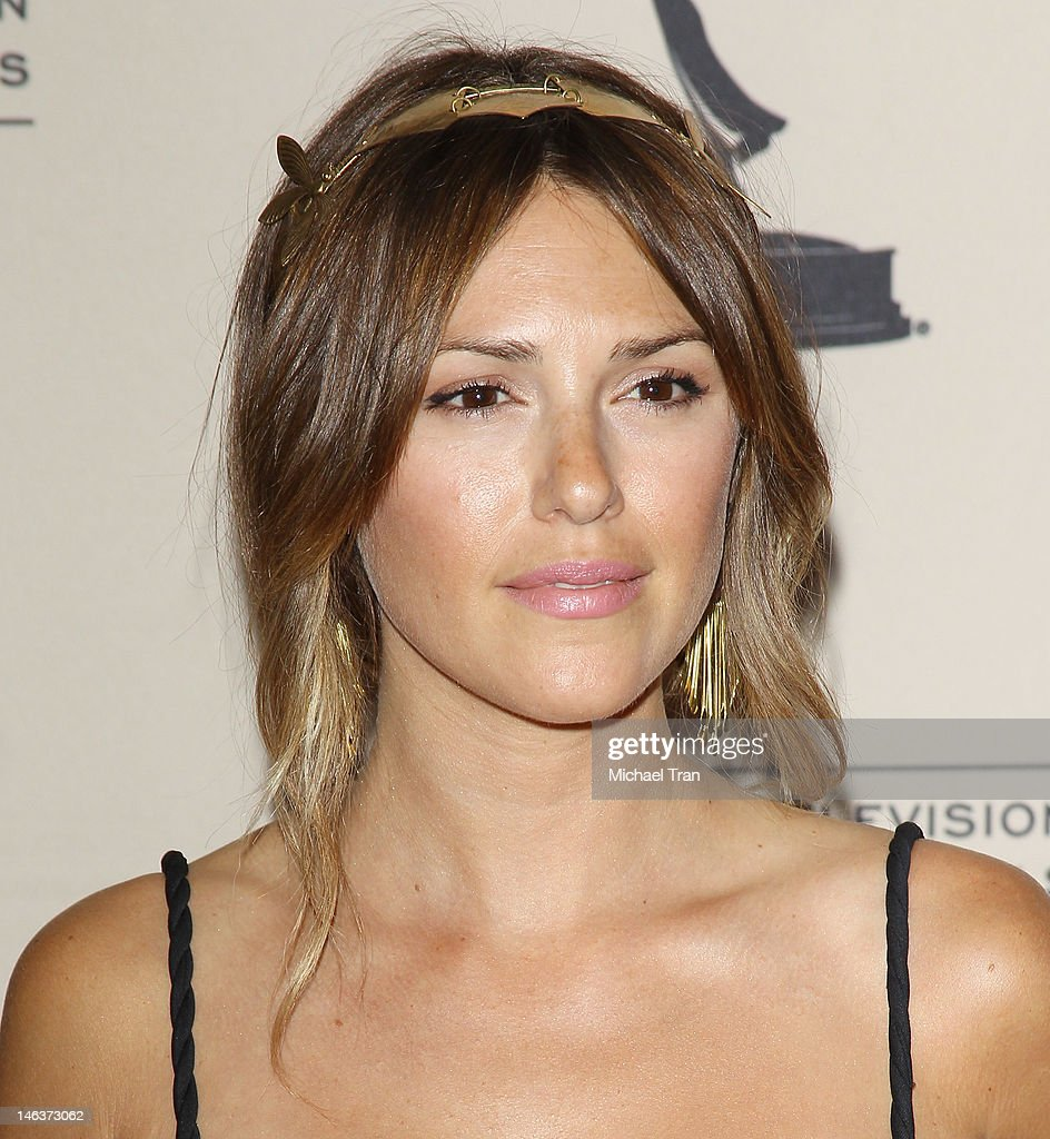 Elizabeth Hendrickson arrives at 39th Daytime Entertainment Emmy Awards - nominees reception held at SLS Hotel on June 14, 2012 in Beverly Hills, California.
