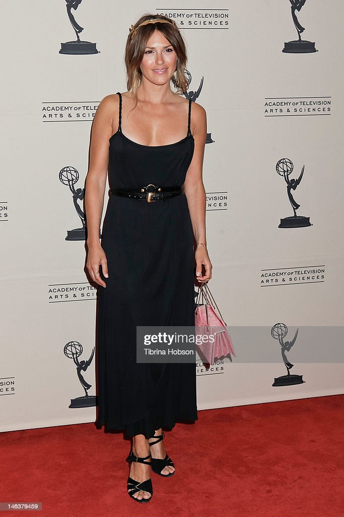 Elizabeth Hendrickson attends the 39th annual daytime Emmy Awards nominees reception at SLS Hotel on June 14, 2012 in Beverly Hills, California.