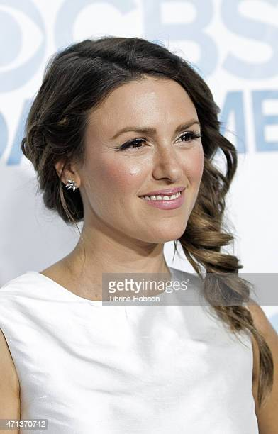 Elizabeth Hendrickson attends the CBS Daytime Emmy after party at Hollywood Athletic Club on April 26 2015 in Hollywood California