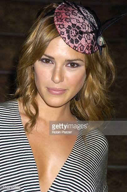 Elizabeth Hendrickson during Olympus Fashion Week Spring 2005 Holly Kristen Runway and Front Row at The Rainbow Room Rockefeller Center in New York...