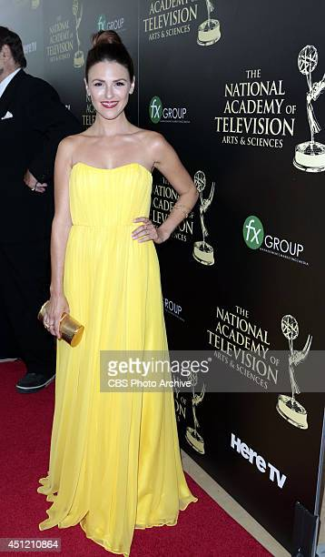 Elizabeth Hendrickson on the red carpet at The 41st Annual Daytime Entertainment Emmy® Awards