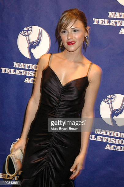 Elizabeth Hendrickson wearing Betsey Johnson during 31st Annual NATAS Daytime Emmy Craft Awards Press Room at Mariott Marquis in New York City New...