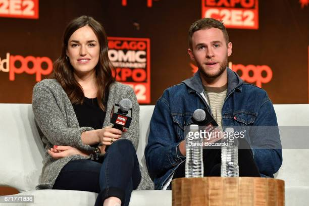 Elizabeth Henstridge and Iain De Caestecker attend the 2017 C2E2 Comic and Entertainment Expo at McCormick Place on April 22 2017 in Chicago Illinois
