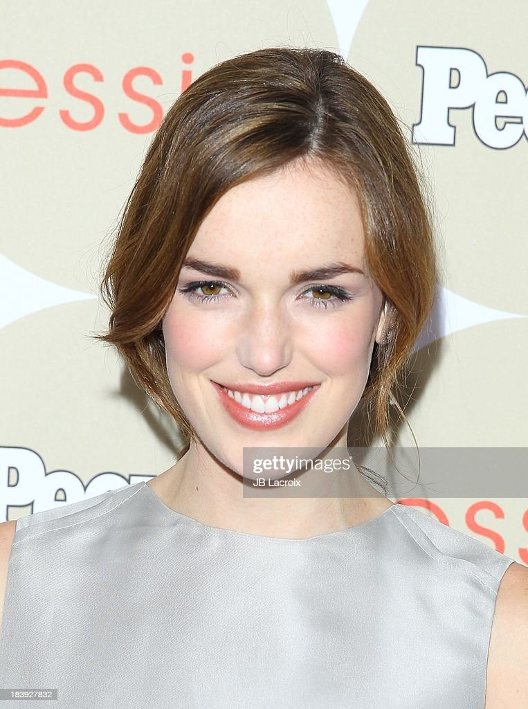 Elizabeth Henstridge attends the People's One To Watch Event held at Hinoki & The Bird on October 9, 2013 in Los Angeles, California.