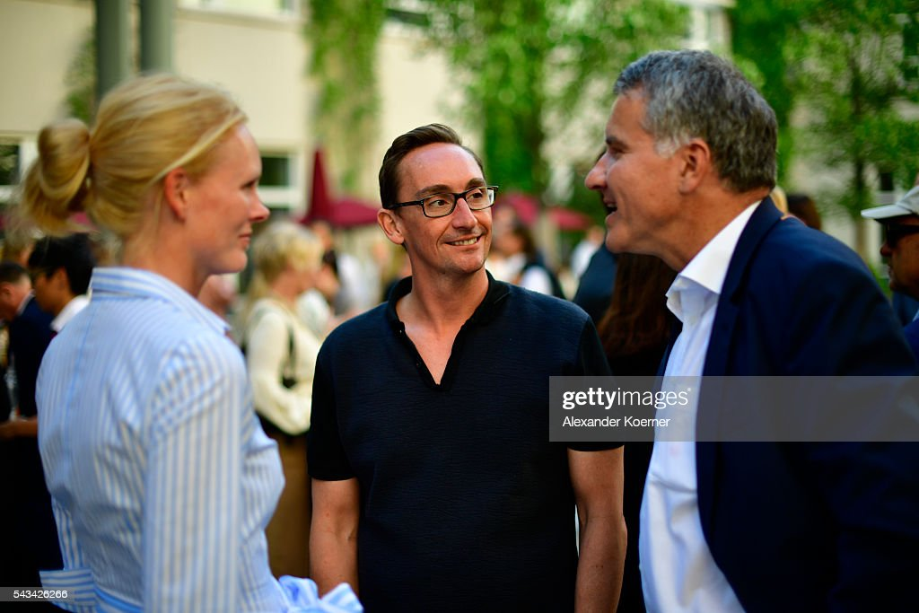 Elizabeth Herzogin in Bayern, Joerg Arntz and Daniel Terberger at the Sustainability & Style event at the Embassy of The United States of America on June 28, 2016 in Berlin, Germany.