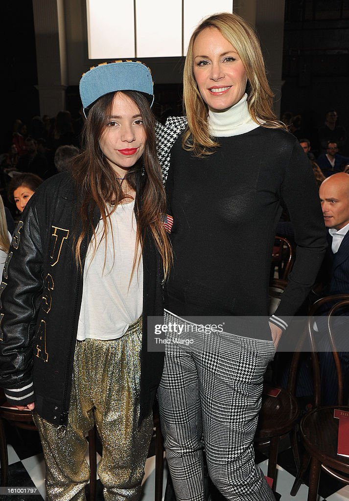 Elizabeth Hilfiger and Dee Hilfiger attend the Tommy Hilfiger Fall 2013 Men's Collection fashion show during Mercedes-Benz Fashion Week at Park Avenue Armory on February 8, 2013 in New York City.