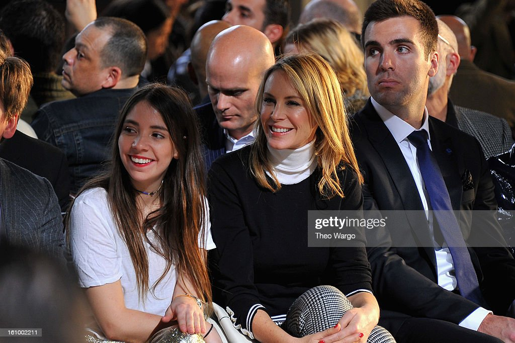 Elizabeth Hilfiger, Dee Hilfiger and <a gi-track='captionPersonalityLinkClicked' href=/galleries/search?phrase=Joe+Flacco&family=editorial&specificpeople=4645672 ng-click='$event.stopPropagation()'>Joe Flacco</a> attend the Tommy Hilfiger Fall 2013 Men's Collection fashion show during Mercedes-Benz Fashion Week at Park Avenue Armory on February 8, 2013 in New York City.