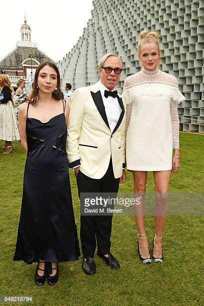 Elizabeth Hilfiger Tommy Hilfiger and Gabriella Wilde attend The Serpentine Summer Party cohosted by Tommy Hilfiger on July 6 2016 in London England