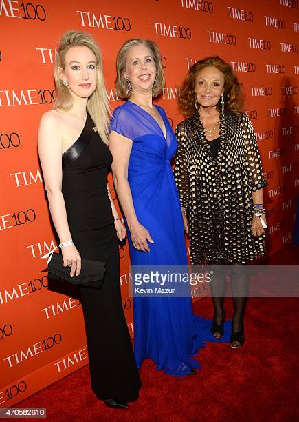 Elizabeth Holmes Managing Editor Time Magazine Nancy Gibbs and Diane von Furstenberg attend TIME 100 Gala TIME's 100 Most Influential People In The...