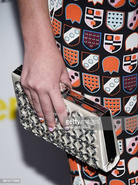 Elizabeth Hunter clutch detail arrives at Teen Vogue's 13th Annual Young Hollywood Issue Launch Party on October 2 2015 in Los Angeles California