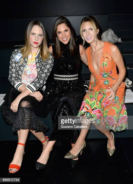 Elizabeth Huntsman Abby Huntsman and Mary Anne Huntsman attend Vivienne Tam FW2017 Runway Show show at Gallery 1 Skylight Clarkson Sq during New York...