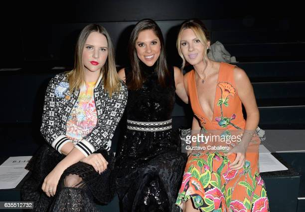 Elizabeth Huntsman Abby Huntsman and Mary Kaye Huntsman attend Vivienne Tam FW2017 Runway Show show at Gallery 1 Skylight Clarkson Sq during New York...