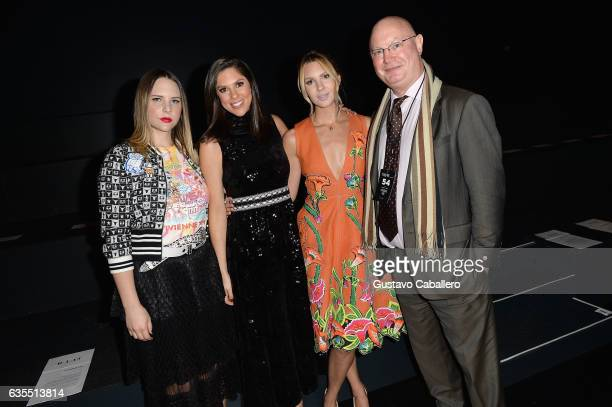 Elizabeth Huntsman Abby Huntsman Mary Anne Huntsman and a guest attend Vivienne Tam FW2017 Runway Show show at Gallery 1 Skylight Clarkson Sq during...