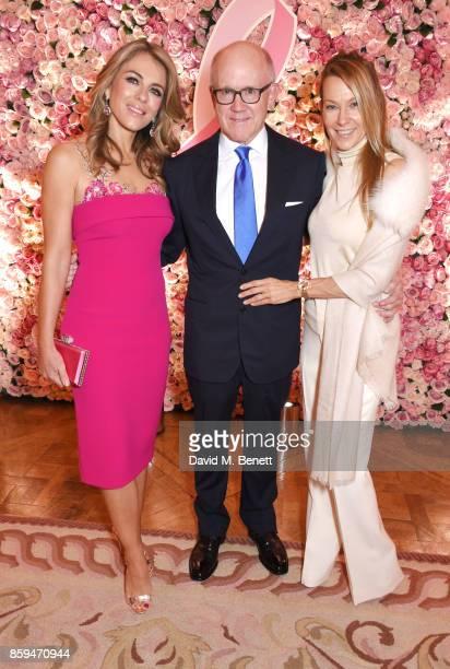 Elizabeth Hurley Ambassador Robert W Johnson US Ambassador to the UK and Suzanne Johnson attend the 25th Anniversary of the Estee Lauder Companies...