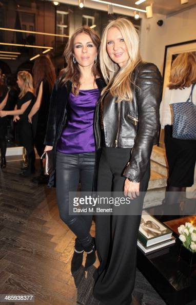 Elizabeth Hurley and Amanda Wakeley attend the launch of the Amanda Wakeley London flagship store on January 30 2014 in London England