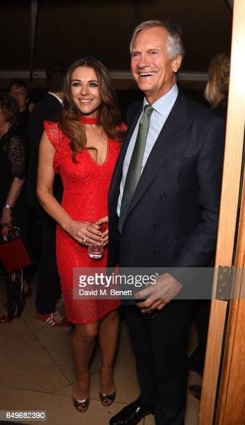 Elizabeth Hurley and Charles Delevingne attend the World Premiere after party for 'The Time Of Their Lives' at 5 Hertford Street on March 8 2017 in...