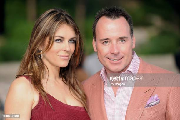 Elizabeth Hurley and David Furnish during the Fashion Show at The Amber Lounge Le Meridien Beach Plaza Hotel Monaco