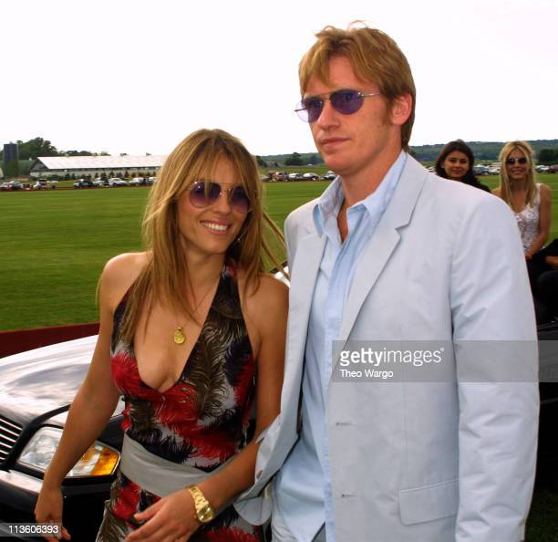 Elizabeth Hurley and Denis Leary during Opening of the MercedesBenz Polo Challenge in Bridgehampton which benefits the Leary Firefighters Foundation...