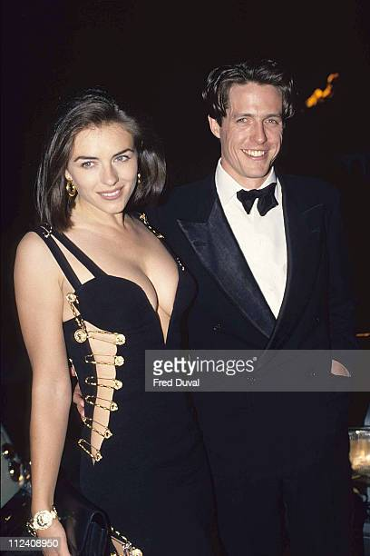 Elizabeth Hurley and Hugh Grant during Hugh Grant with Elizabeth Hurley Archive Images in London Great Britain