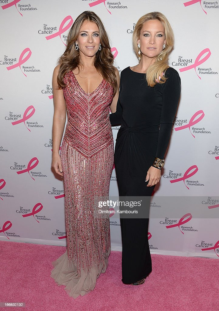 <a gi-track='captionPersonalityLinkClicked' href=/galleries/search?phrase=Elizabeth+Hurley&family=editorial&specificpeople=201731 ng-click='$event.stopPropagation()'>Elizabeth Hurley</a> and <a gi-track='captionPersonalityLinkClicked' href=/galleries/search?phrase=Kate+Hudson&family=editorial&specificpeople=156407 ng-click='$event.stopPropagation()'>Kate Hudson</a> attend The Breast Cancer Research Foundation's 2013 Hot Pink Party at The Waldorf=Astoria on April 17, 2013 in New York City.
