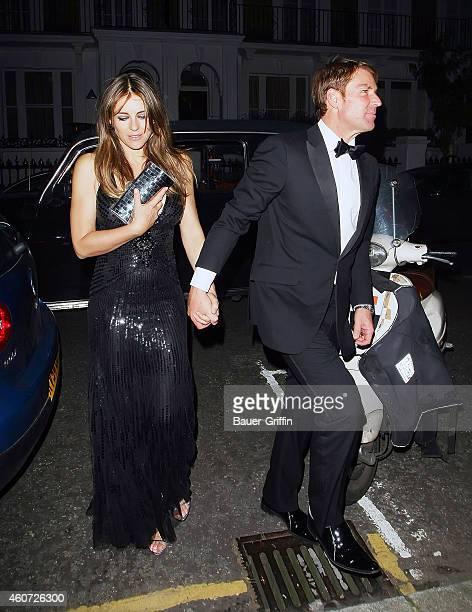 Elizabeth Hurley and Shane Warne are seen on July 05 2012 in London United Kingdom