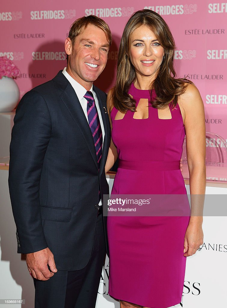 Elizabeth Hurley Personal Appearance At Selfridges