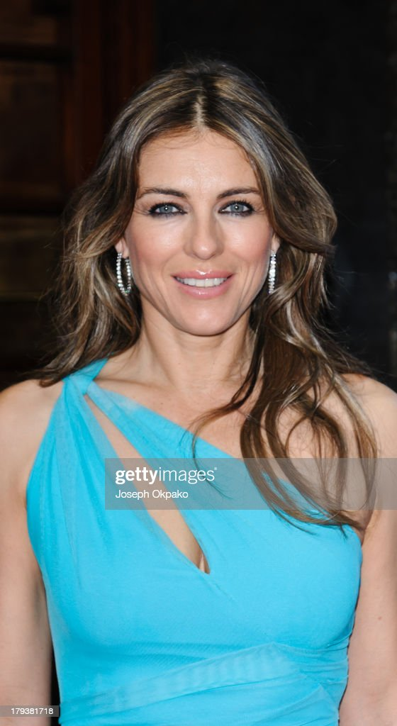 Elizabeth Hurley arrives at Brits Icon Awards honouring Sir Elton John at London Palladium on September 2, 2013 in London, England.