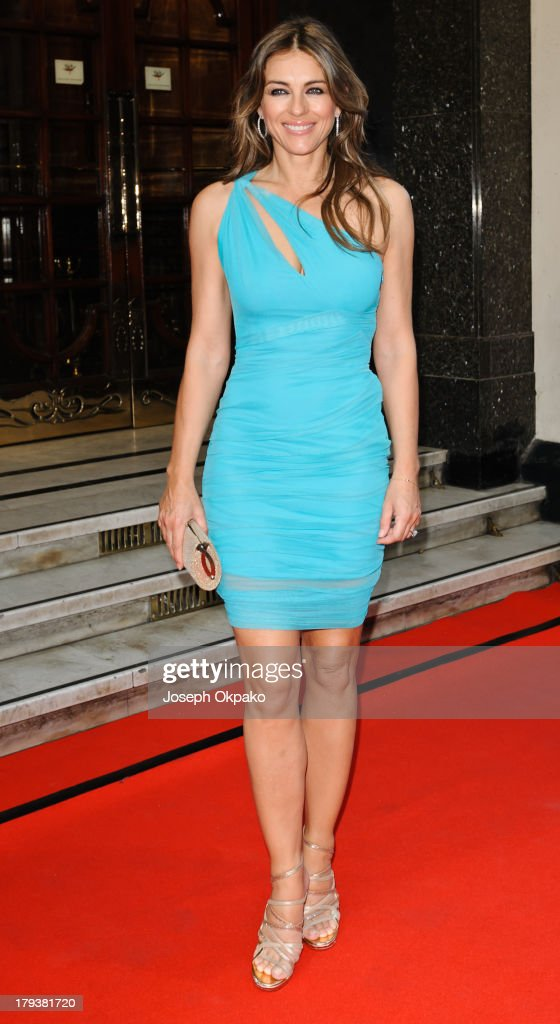 <a gi-track='captionPersonalityLinkClicked' href=/galleries/search?phrase=Elizabeth+Hurley&family=editorial&specificpeople=201731 ng-click='$event.stopPropagation()'>Elizabeth Hurley</a> arrives at Brits Icon Awards honouring Sir Elton John at London Palladium on September 2, 2013 in London, England.