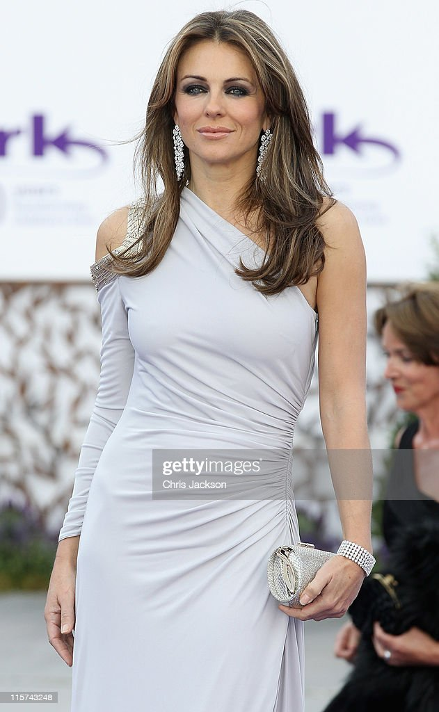 Elizabeth Hurley arrives at the ARK 10th Anniversary Gala Dinner at Perk's Field on June 9, 2011 in London, England.