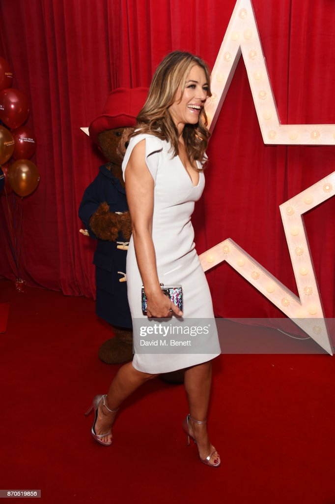 Elizabeth Hurley attend the World Premiere of 'Paddington 2' at Odeon Leicester Square on November 5, 2017 in London, England.