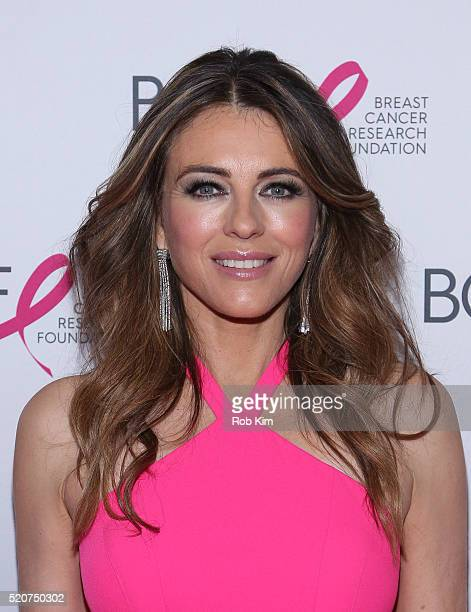 Elizabeth Hurley attends 2016 Breast Cancer Research Foundation Hot Pink Party at The Waldorf=Astoria on April 12 2016 in New York City