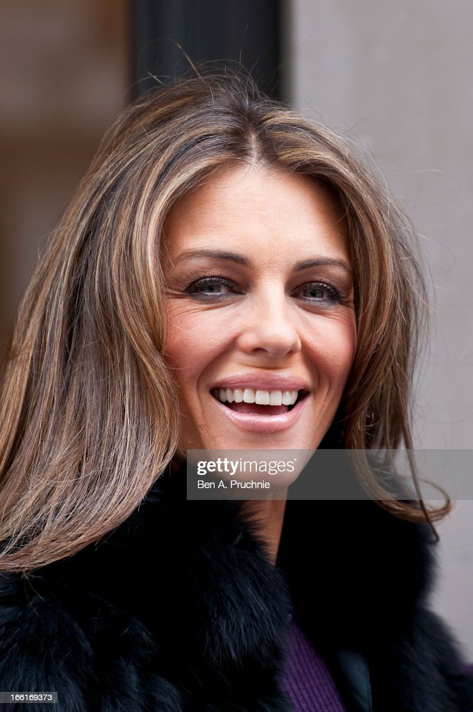 Elizabeth Hurley attends a photocall to celebrate 20 years of Jo Hansford's salon on April 9, 2013 in London, England.