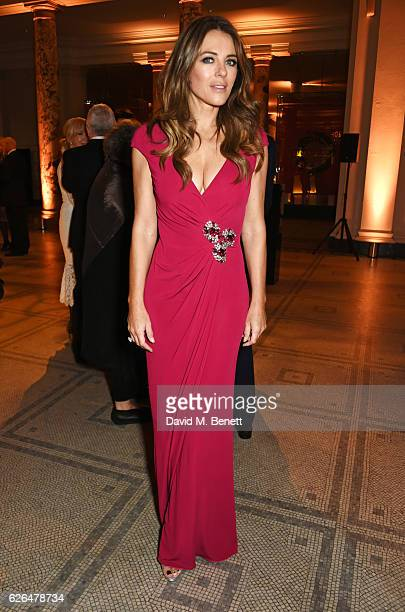Elizabeth Hurley attends as PORTER hosts a special performance of Letters Live in celebration of their Incredible Women of 2016 at The VA on November...