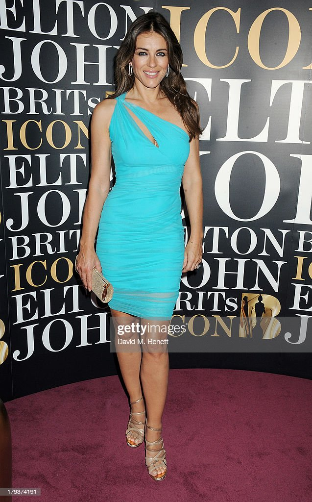 <a gi-track='captionPersonalityLinkClicked' href=/galleries/search?phrase=Elizabeth+Hurley&family=editorial&specificpeople=201731 ng-click='$event.stopPropagation()'>Elizabeth Hurley</a> attends as Sir Elton John is awarded the first annual 'BRITS Icon' award at the London Palladium on September 2, 2013 in London, England.