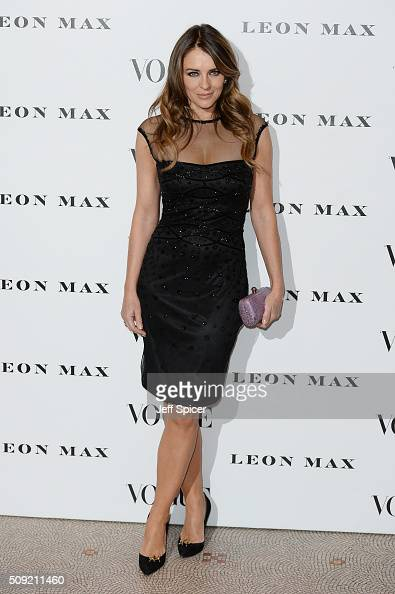 Elizabeth Hurley attends at Vogue 100 A Century Of Style at the National Portrait Gallery on February 9 2016 in London England
