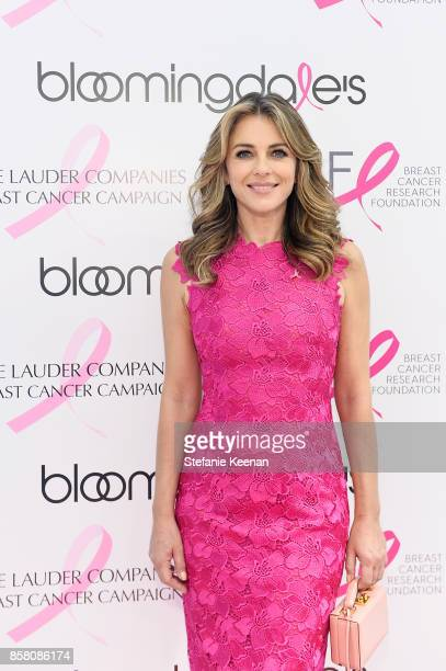 Elizabeth Hurley attends Bloomingdale's Century City Appearance by Elizabeth Hurley Global Brand Ambassador for the Estee Lauder Companies' Breast...