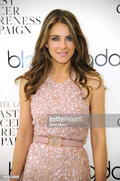 Elizabeth Hurley attends Bloomingdale's kicks off Breast Cancer Awareness Month with The Estee Lauder Companies and Elizabeth Hurley on October 1...